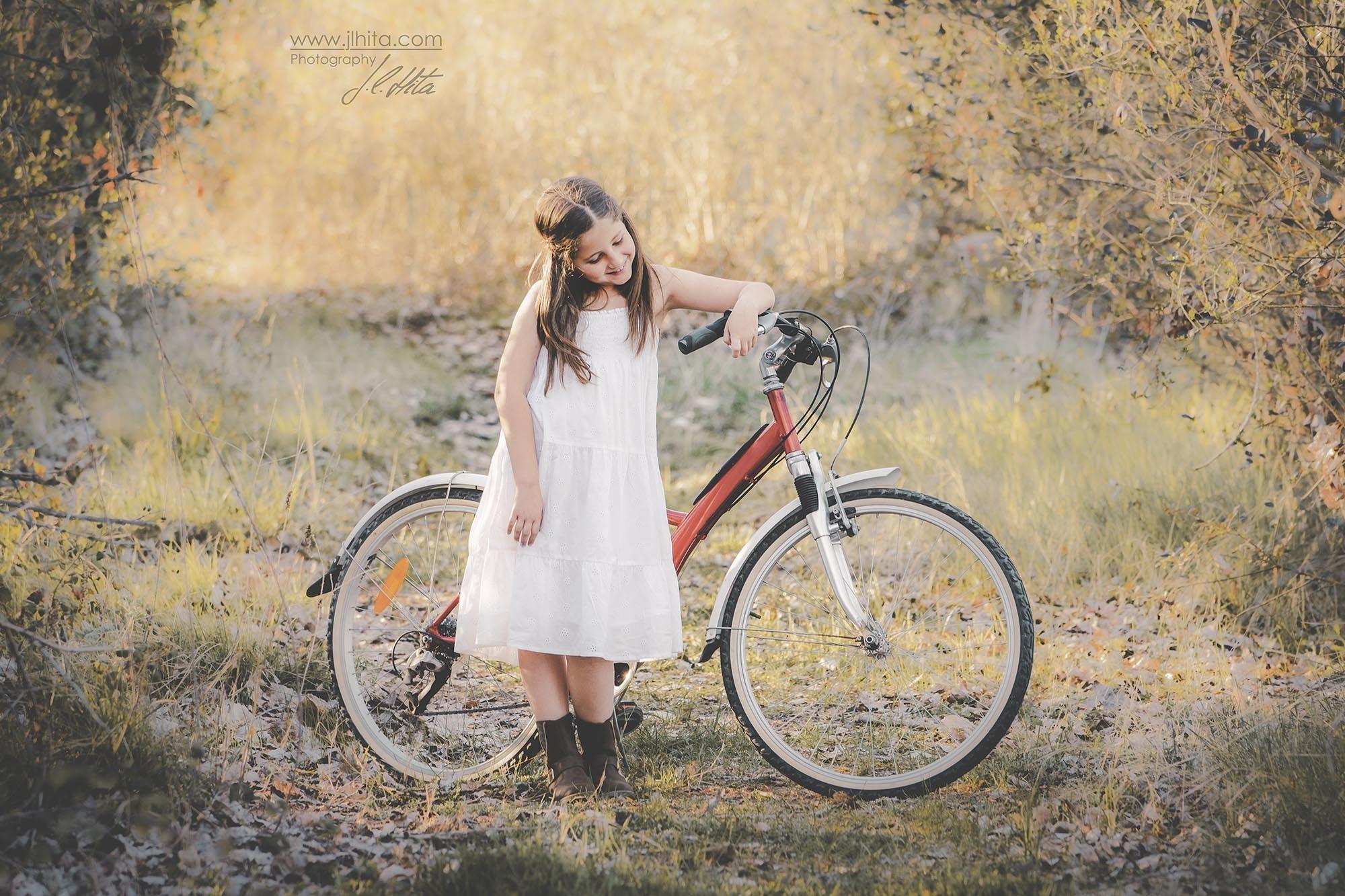 Sesión infantil bici roja